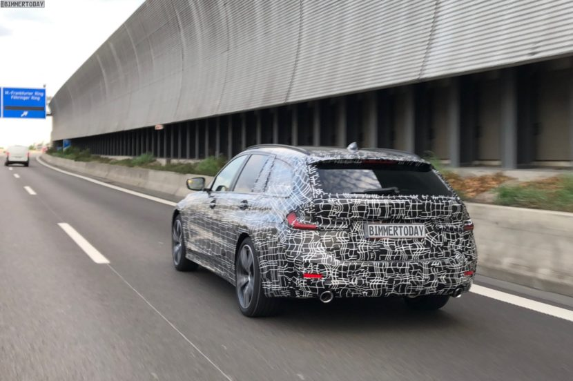 2019 BMW 3er Touring G21 spy photos 04 830x552