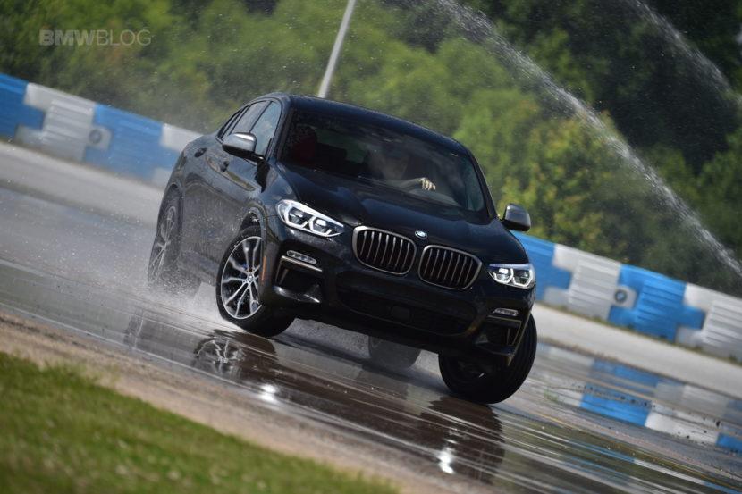 2019 G02 BMW X4 M40i wet skidpad 08 830x553