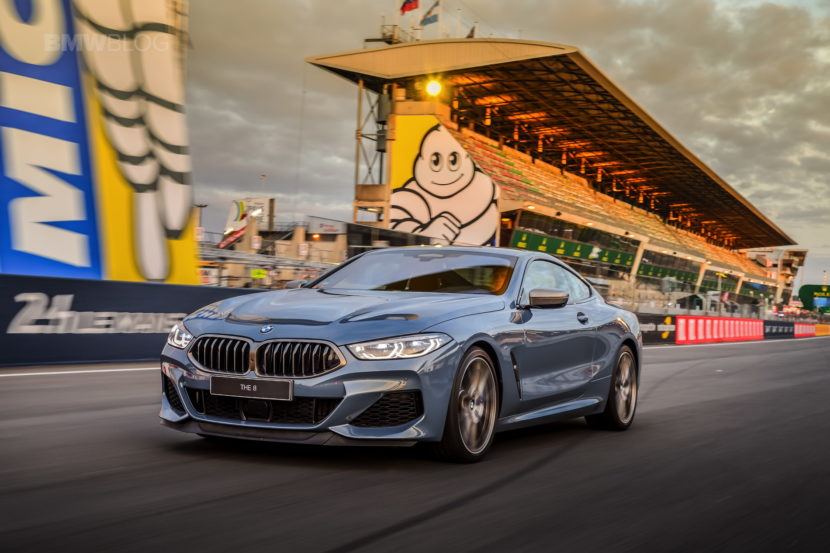 new bmw m850i on track at le mans circuit. Black Bedroom Furniture Sets. Home Design Ideas