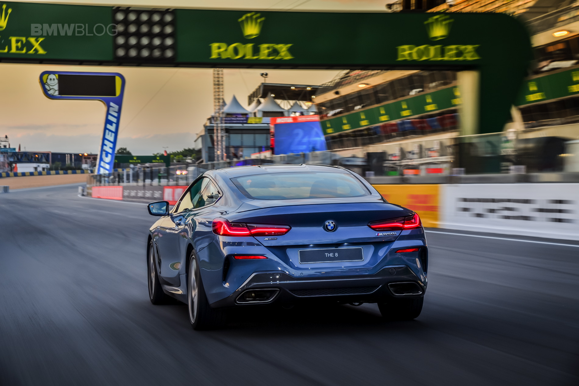 New Bmw M850i On Track At Le Mans Circuit