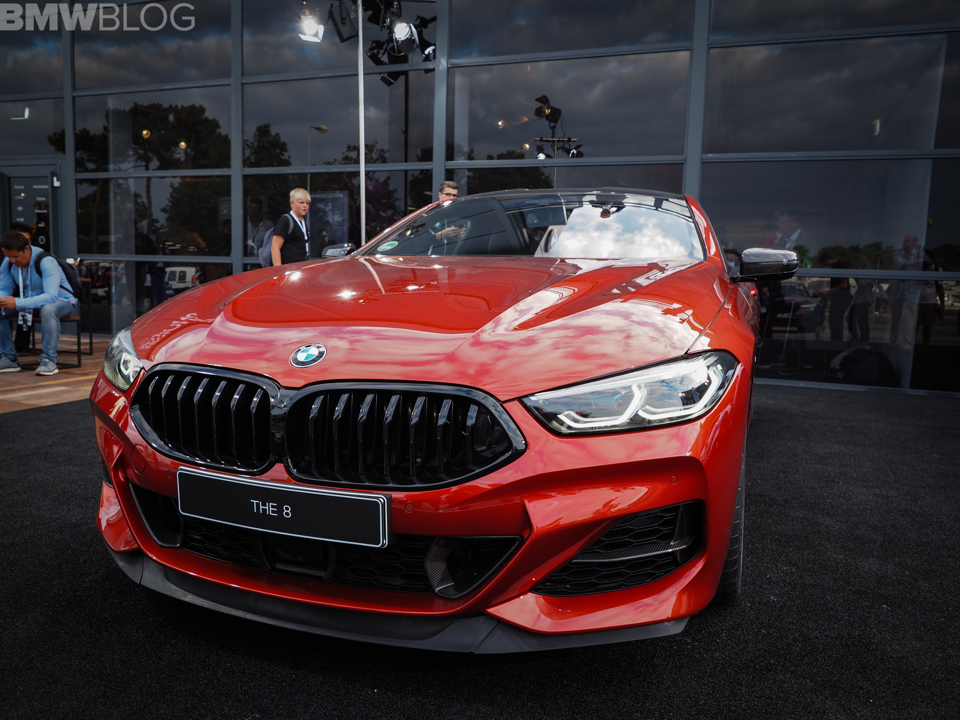 New Bmw M850i In Sunset Orange Live Photos