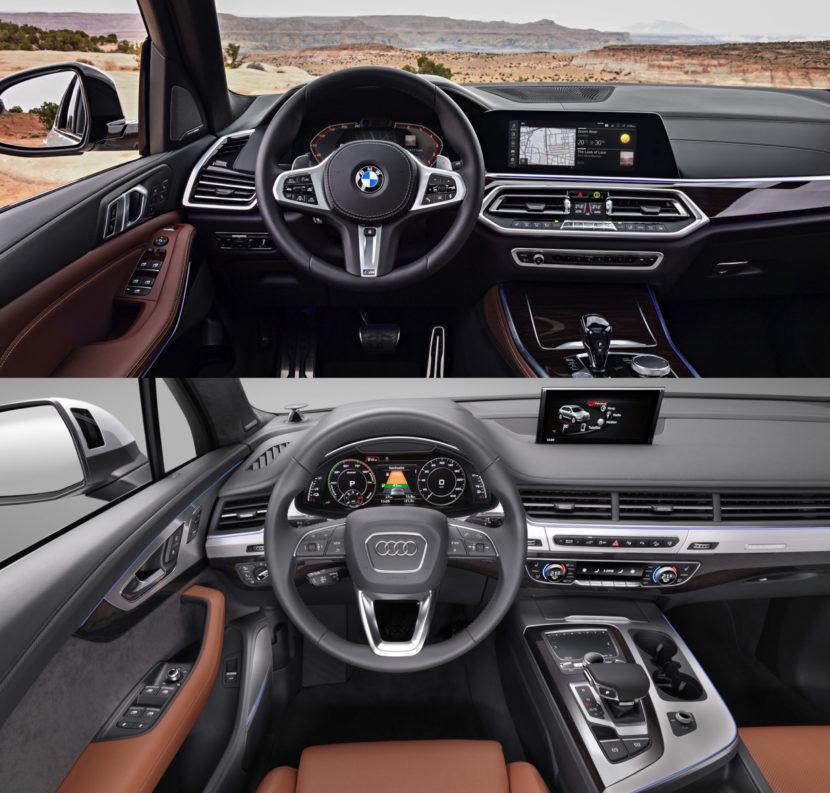 BMW X5 Audi Q7 830x793