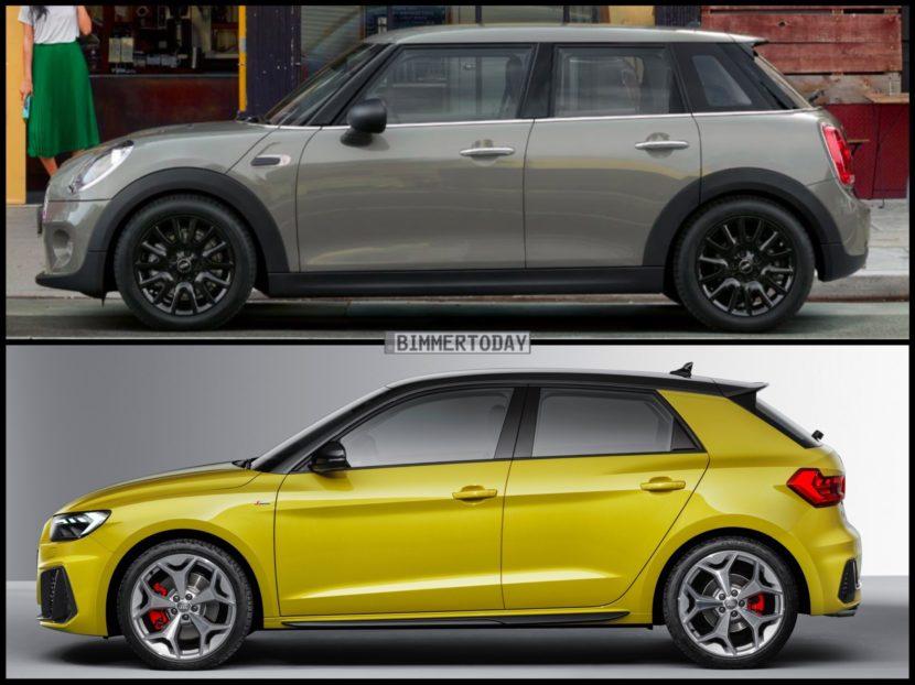 Bild Vergleich MINI Cooper S F55 Audi A1 Sportback 2018 04 830x622