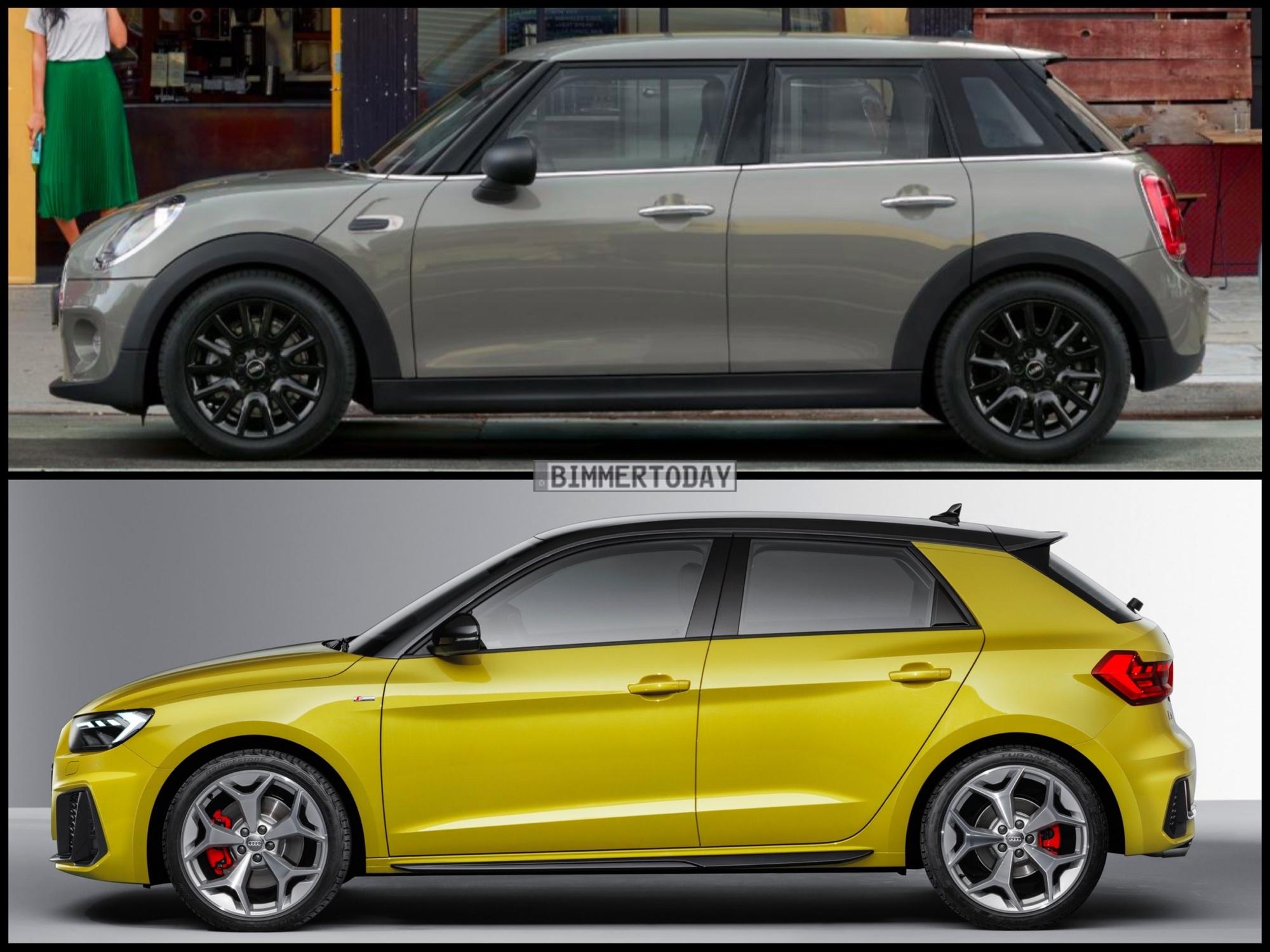 MINI Cooper vs Audi A1 -- Top Gear Test