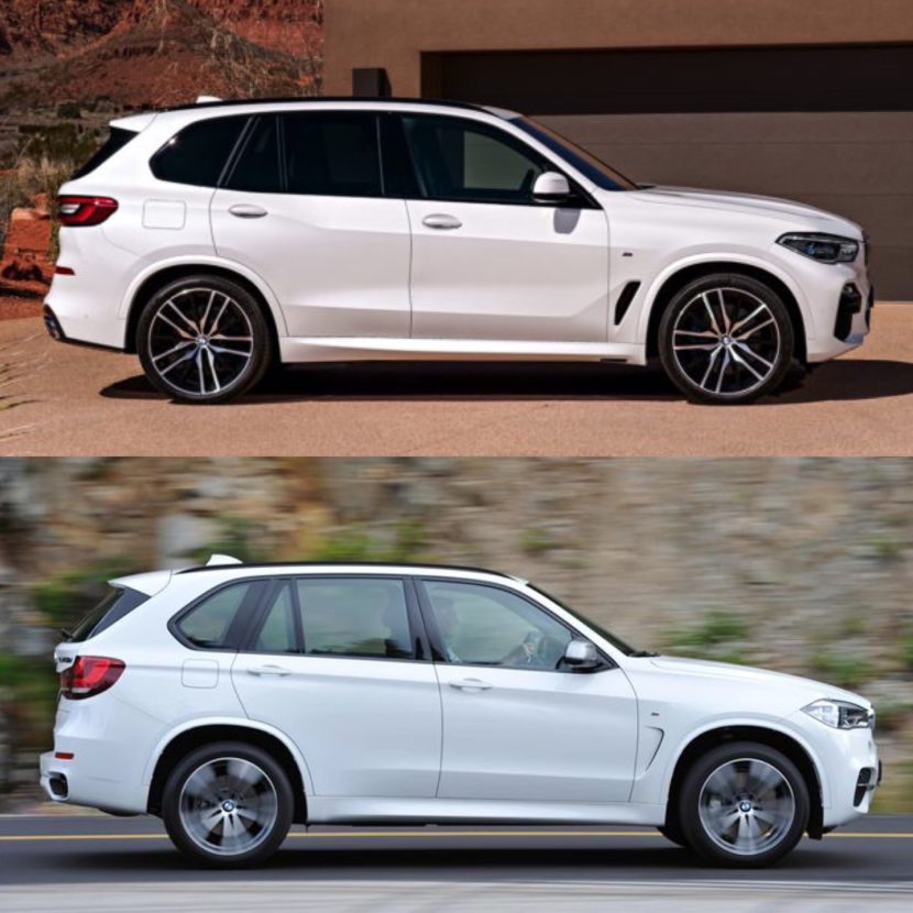 New BMW X5 vs old X5 1 830x830