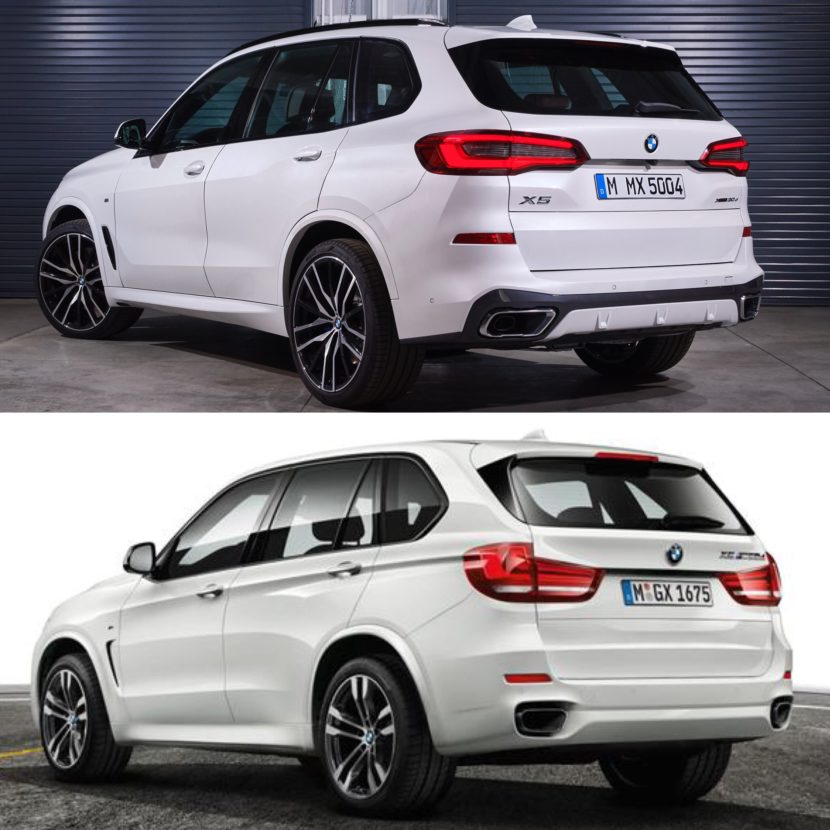 photo comparison f15 bmw x5 vs g05 bmw x5. Black Bedroom Furniture Sets. Home Design Ideas
