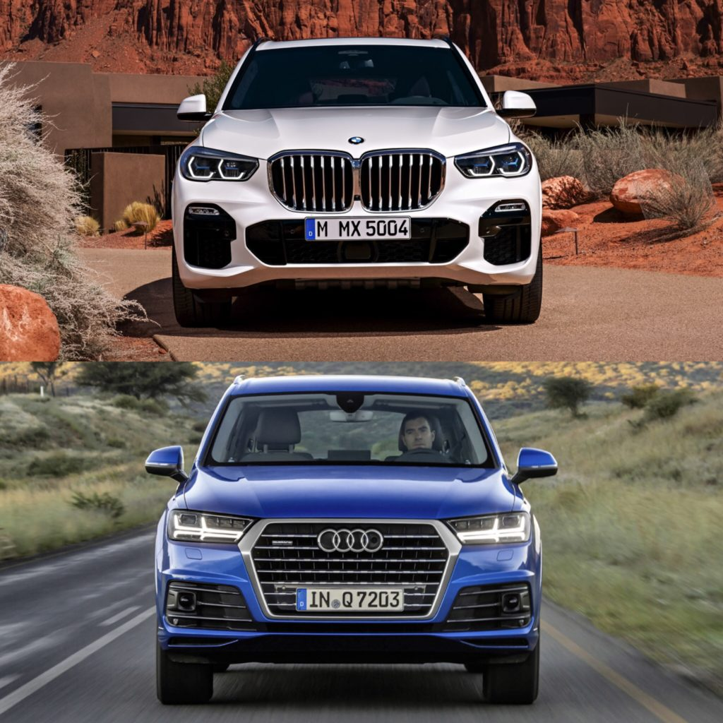 Photo Comparison G05 Bmw X5 Vs Audi Q7