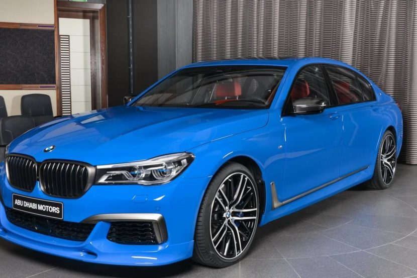 bmw m760li santorini blue 830x553