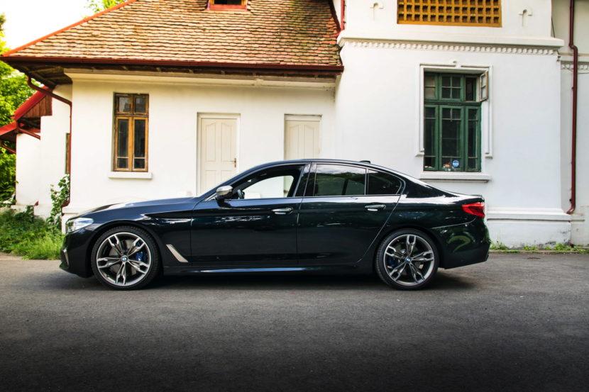 2018 BMW M550d sedan test drive 26 830x553