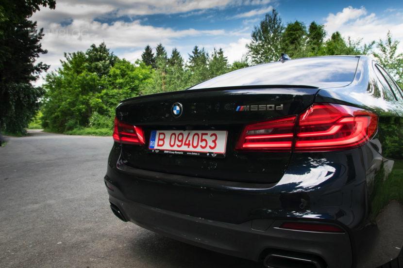 2018 BMW M550d sedan test drive 28 830x553