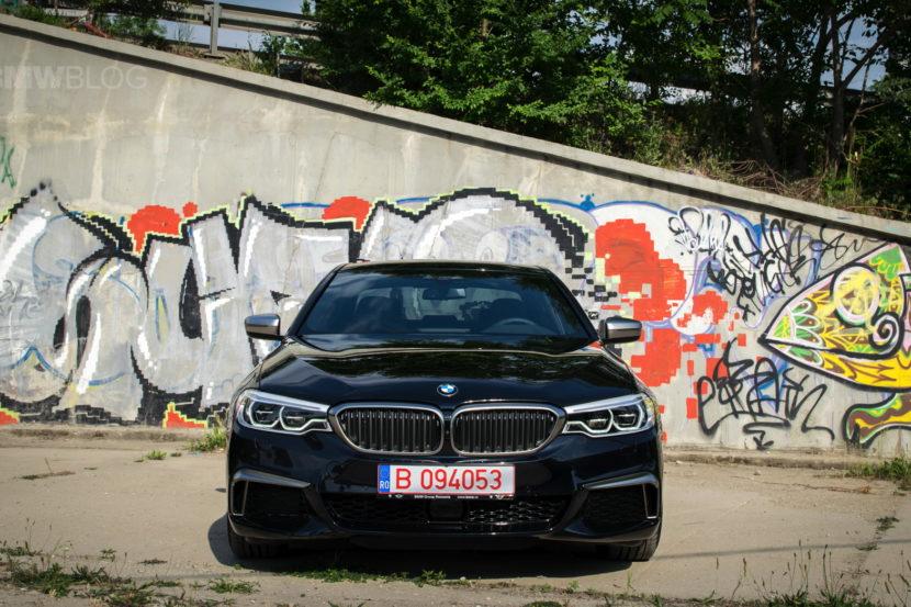 2018 BMW M550d sedan test drive 31 830x553