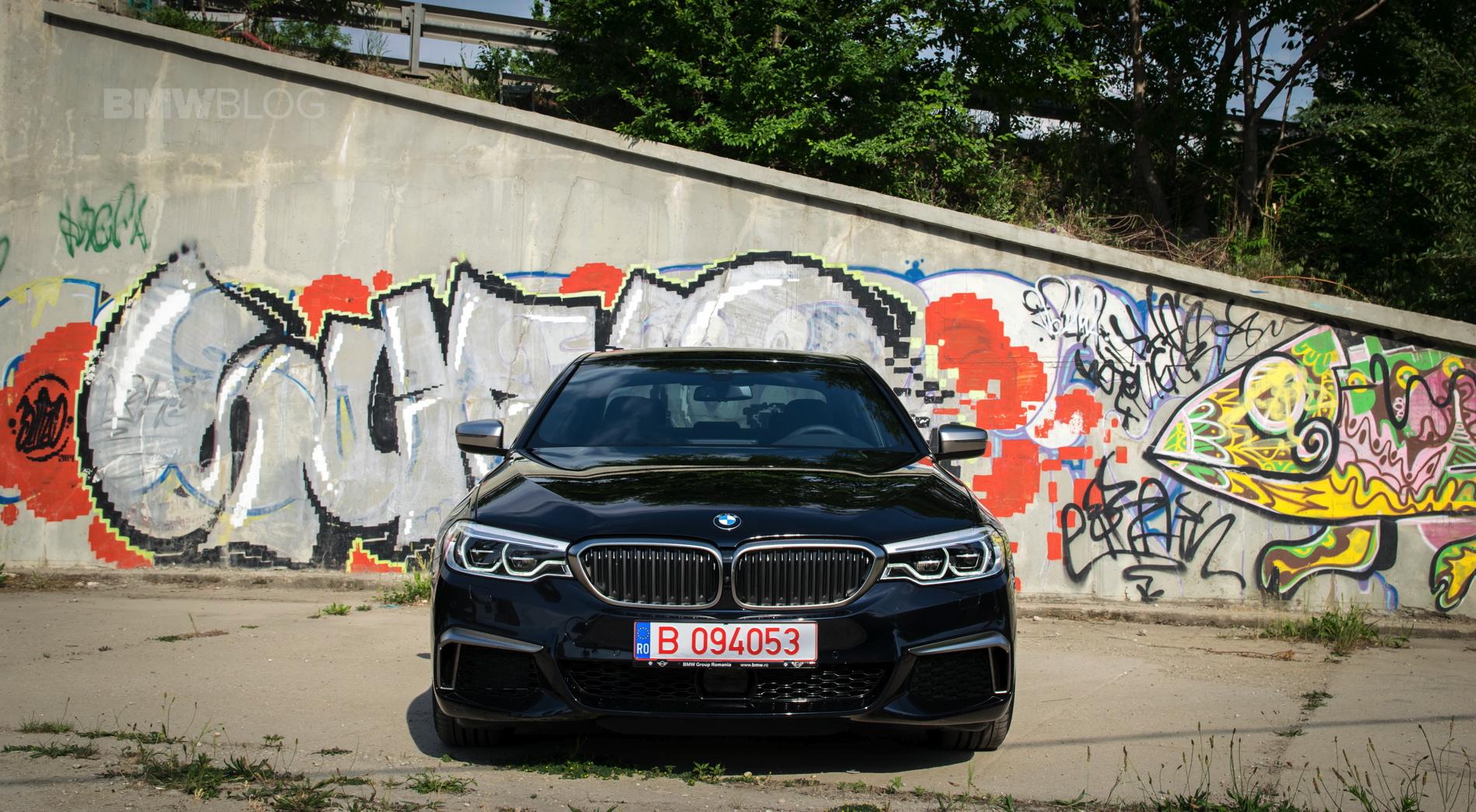 2018 BMW M550d sedan test drive 31
