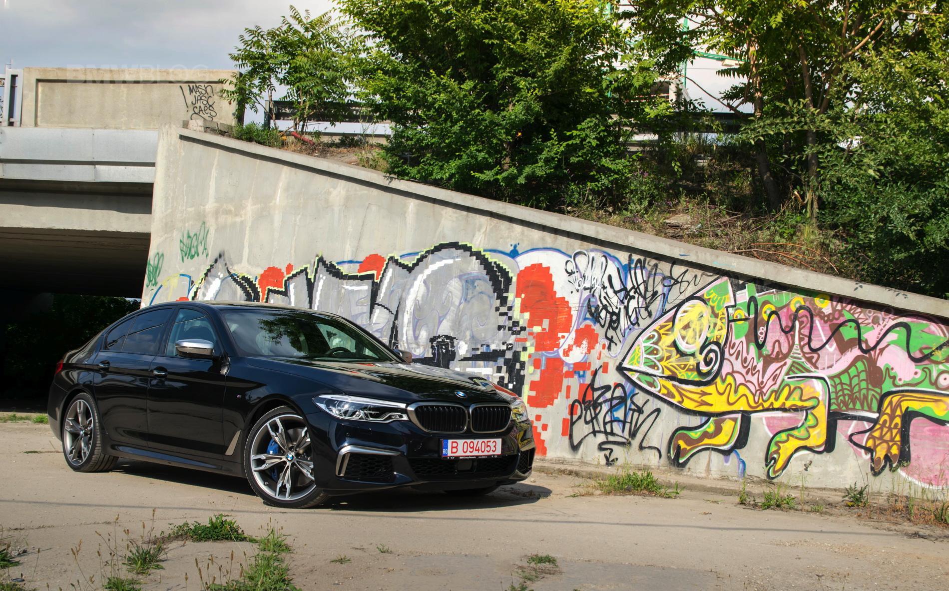 2018 BMW M550d sedan test drive 34