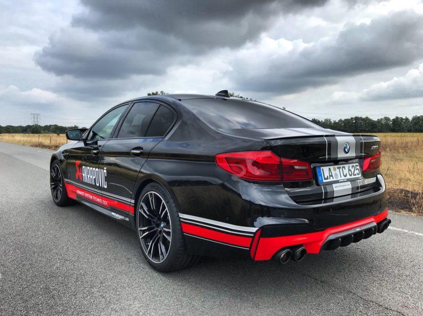 BMW M5 F90 Akrapovic exhaust 830x621