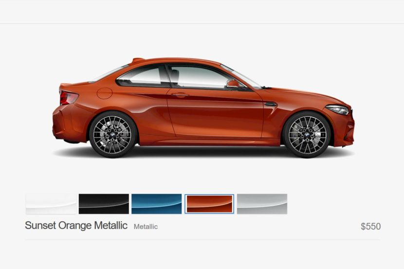 BMW m2 Competition sunset orange 830x553