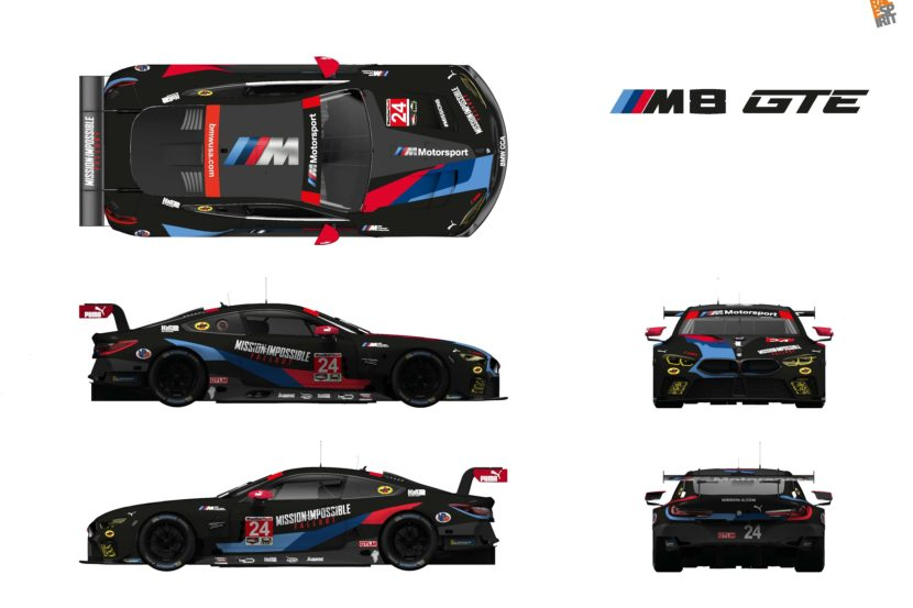 BMW M8 GTE Cars Racing at Lime Rock to Wear Mission: Impossible Liveries