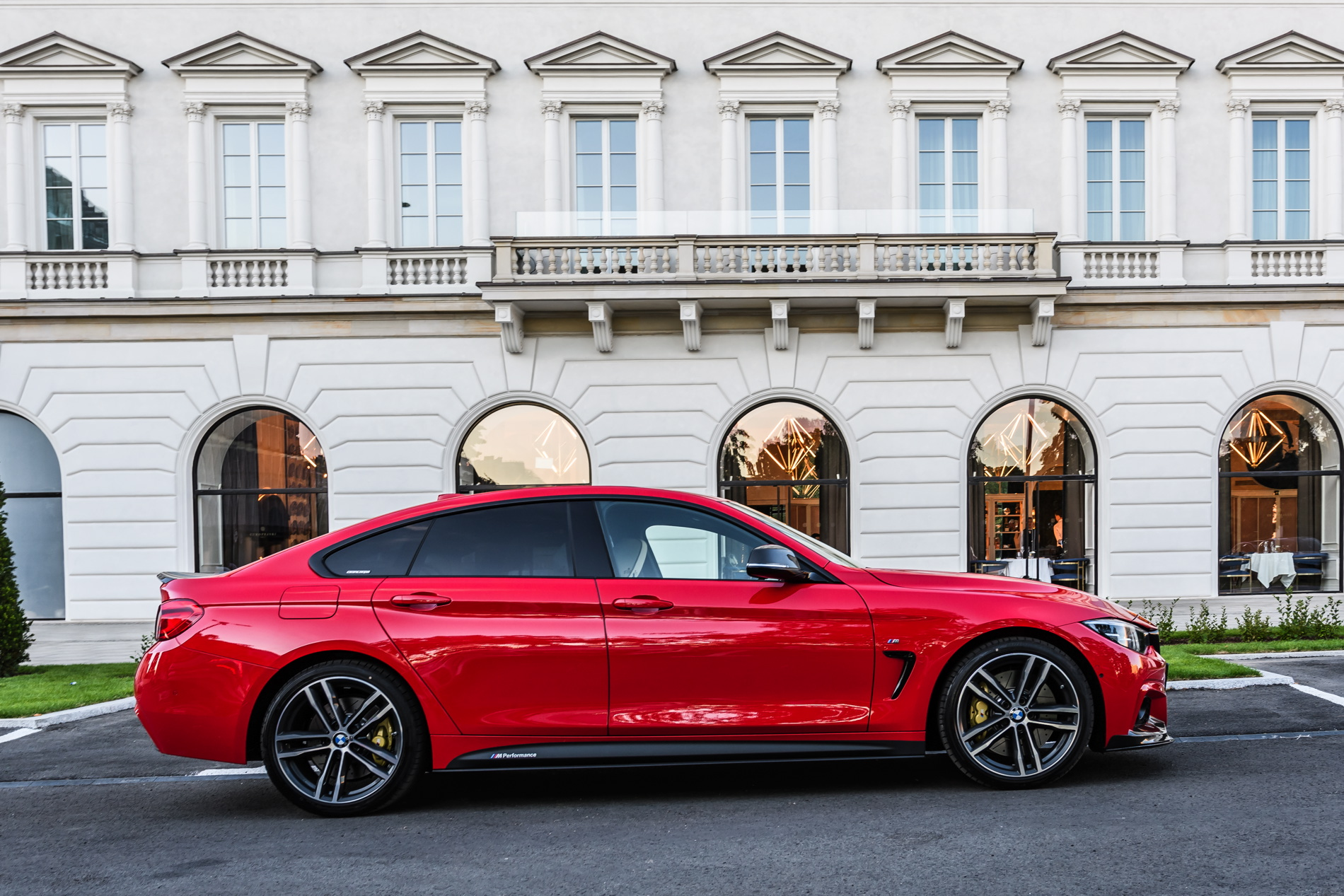 Red BMW 4 Series Gran Coupe M Performance parts 05