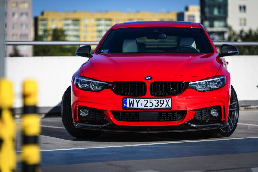 Red BMW 4 Series Gran Coupe M Performance parts 13 830x553