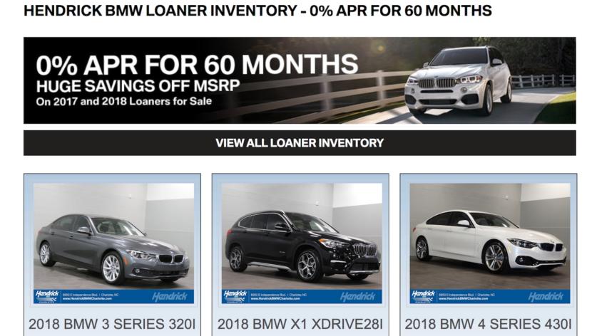 hendrick bmw loaner cars 830x472