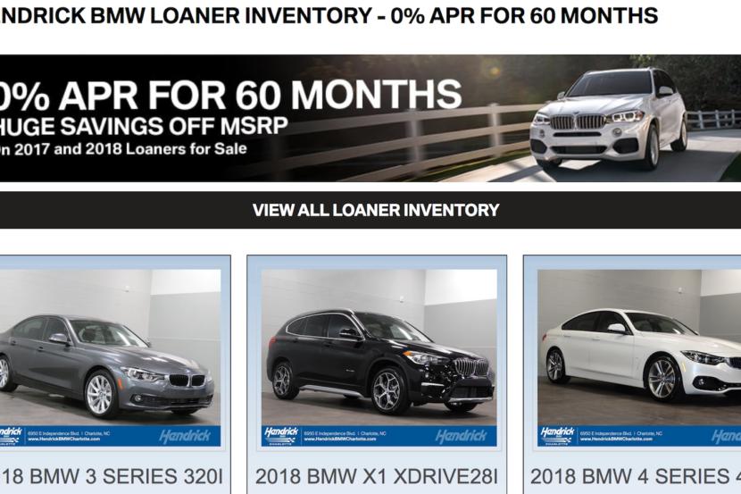 hendrick bmw loaner cars 830x553