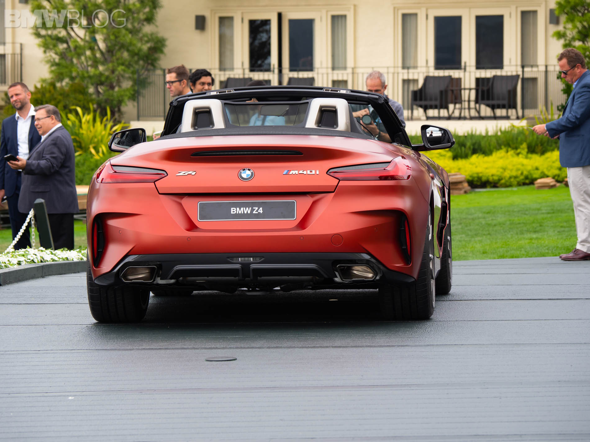 live photos 2019 bmw z4 m40i at pebble beach. Black Bedroom Furniture Sets. Home Design Ideas