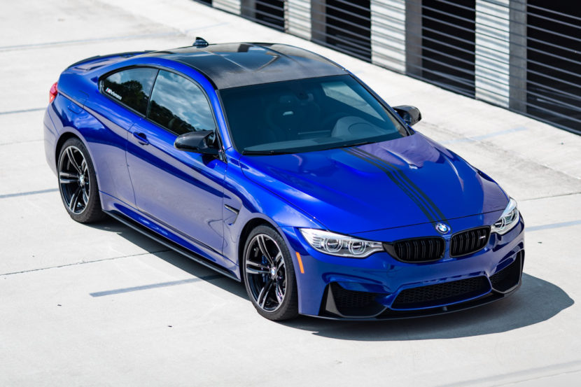 BMW M4 San Marino Blue M Performance Parts 2 of 35 830x553