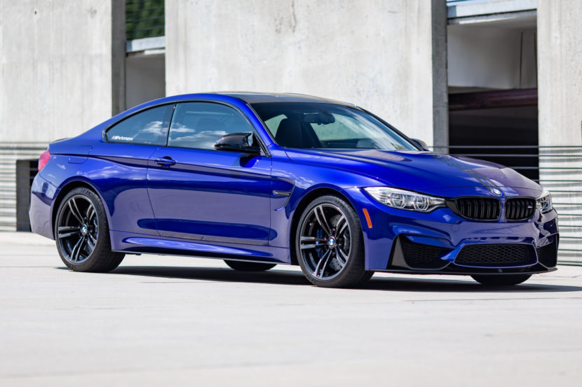 BMW M4 San Marino Blue M Performance Parts 3 of 35 830x553