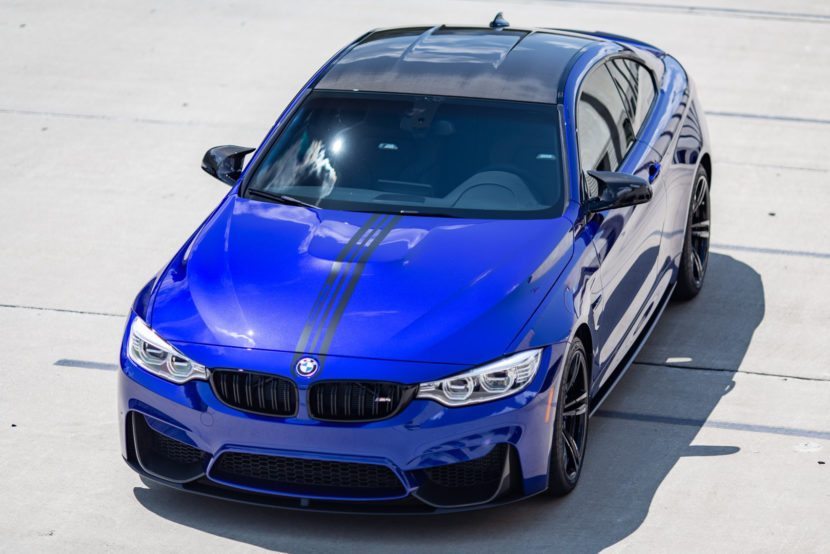 BMW M4 San Marino Blue M Performance Parts 5 of 35 830x554