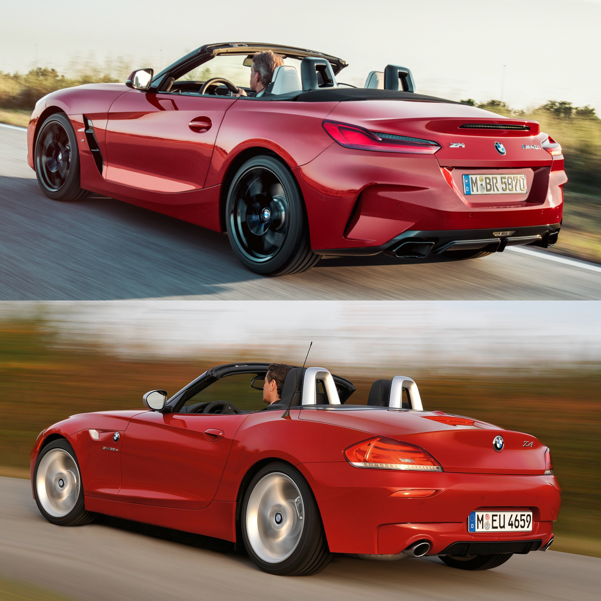 Photo Comparison: G29 BMW Z4 Vs E89 BMW Z4
