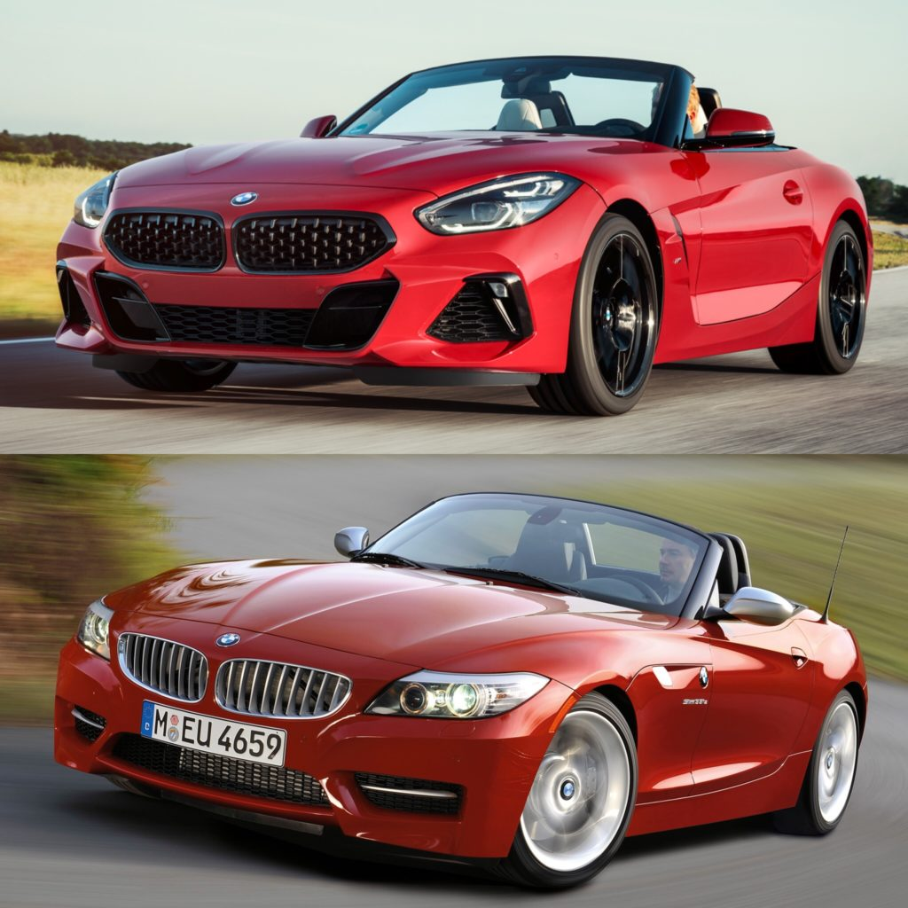 photo comparison g29 bmw z4 vs e89 bmw z4. Black Bedroom Furniture Sets. Home Design Ideas
