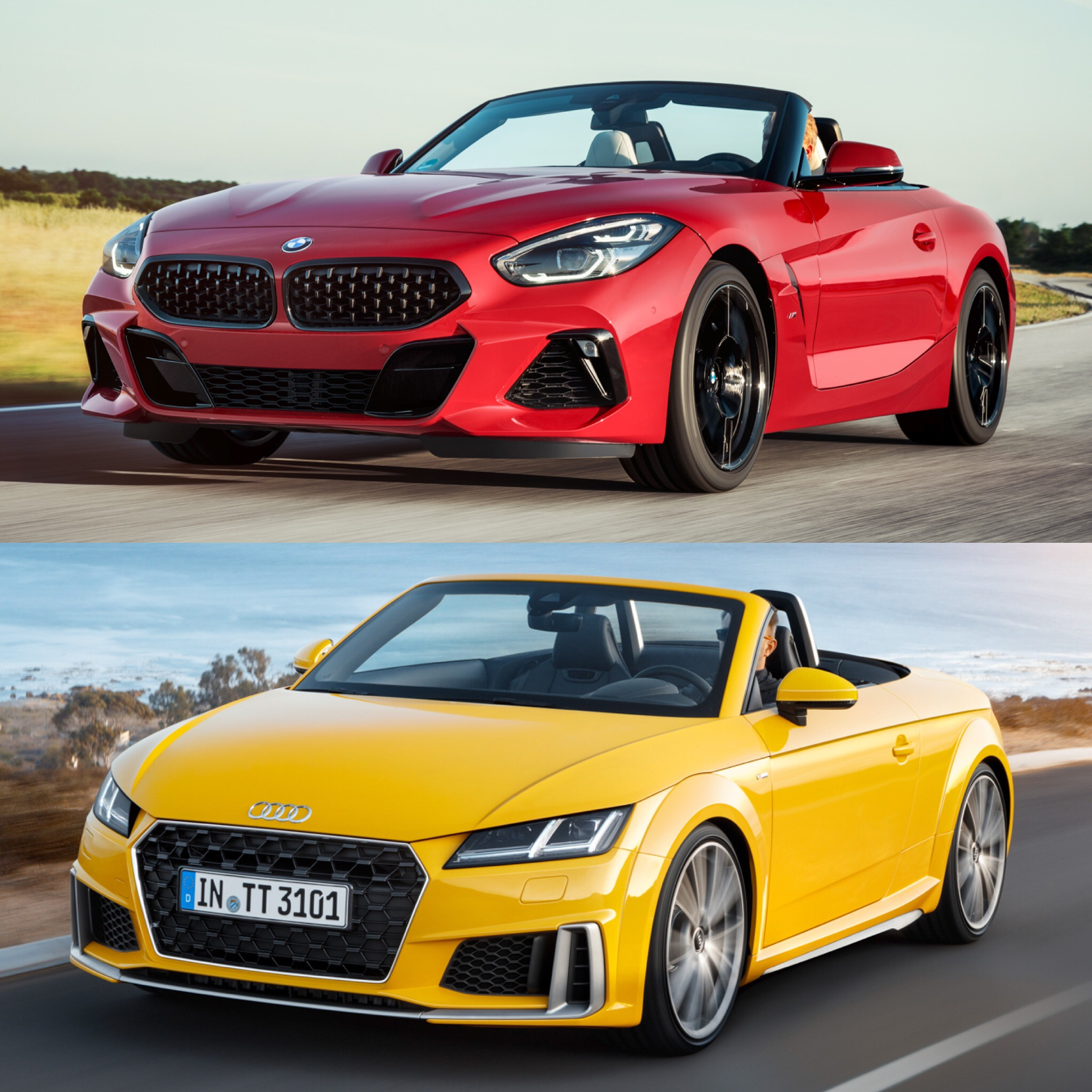 Bmw Z4 Reviews: Photo Comparison: BMW Z4 M40i Vs Audi TT Roadster