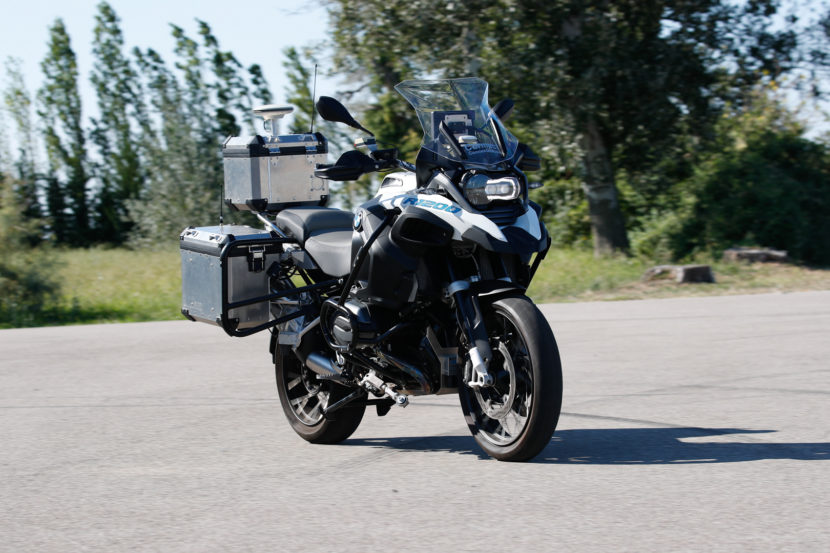 BMW's autonomous R1200GS on video