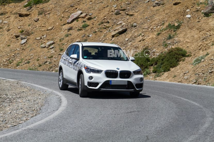 BMW X1 hybrid spy photos 01 830x553