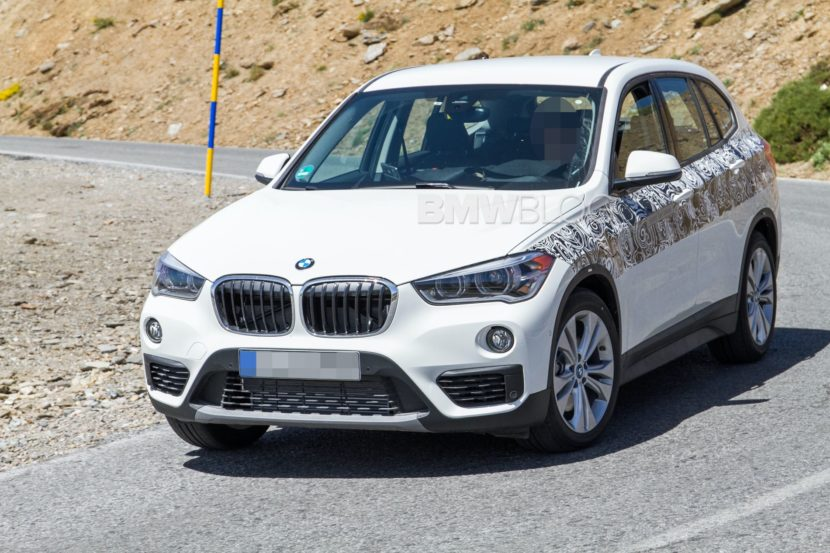 BMW X1 hybrid spy photos 03 830x553