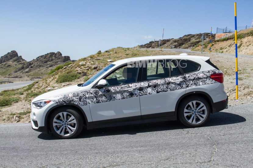 BMW X1 hybrid spy photos 05 830x553