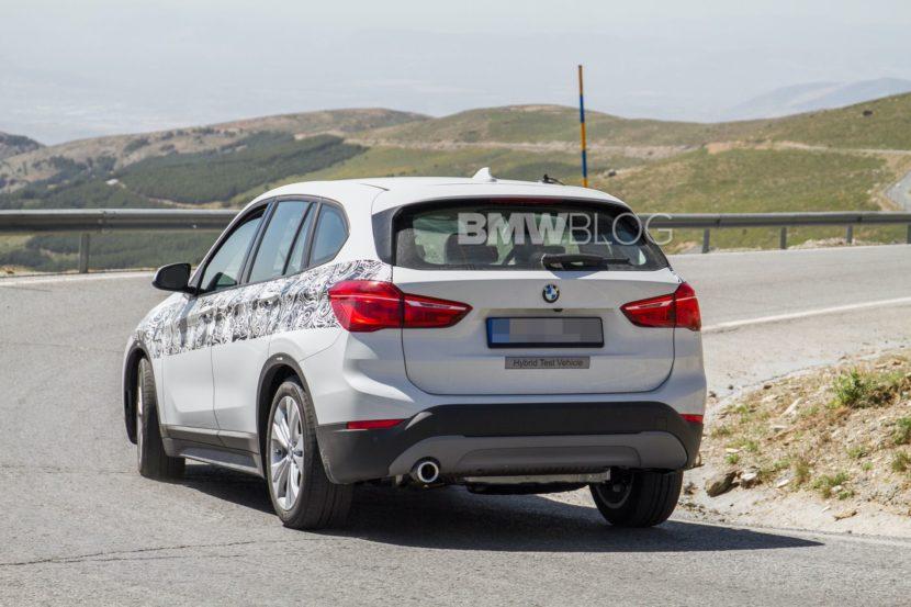 BMW X1 hybrid spy photos 06 830x553
