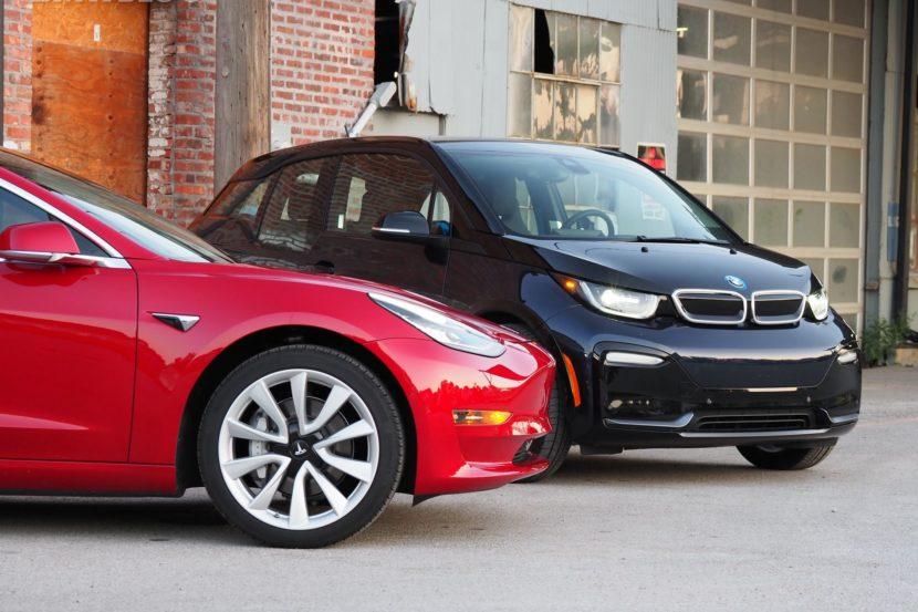 BMW i3 tesla model 3 07 830x553