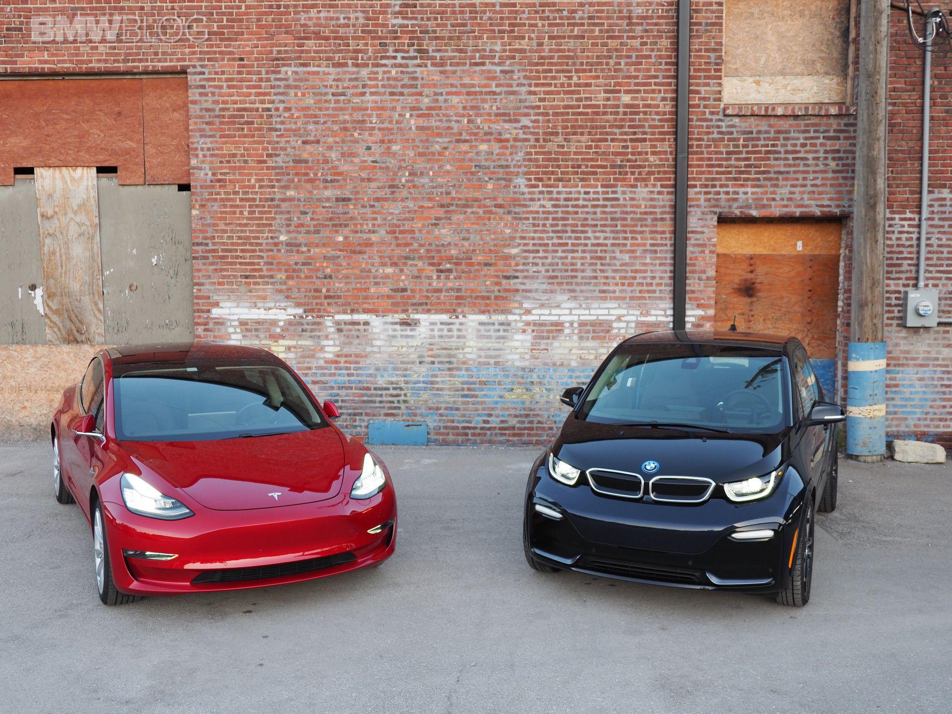 BMW i3 tesla model 3 10