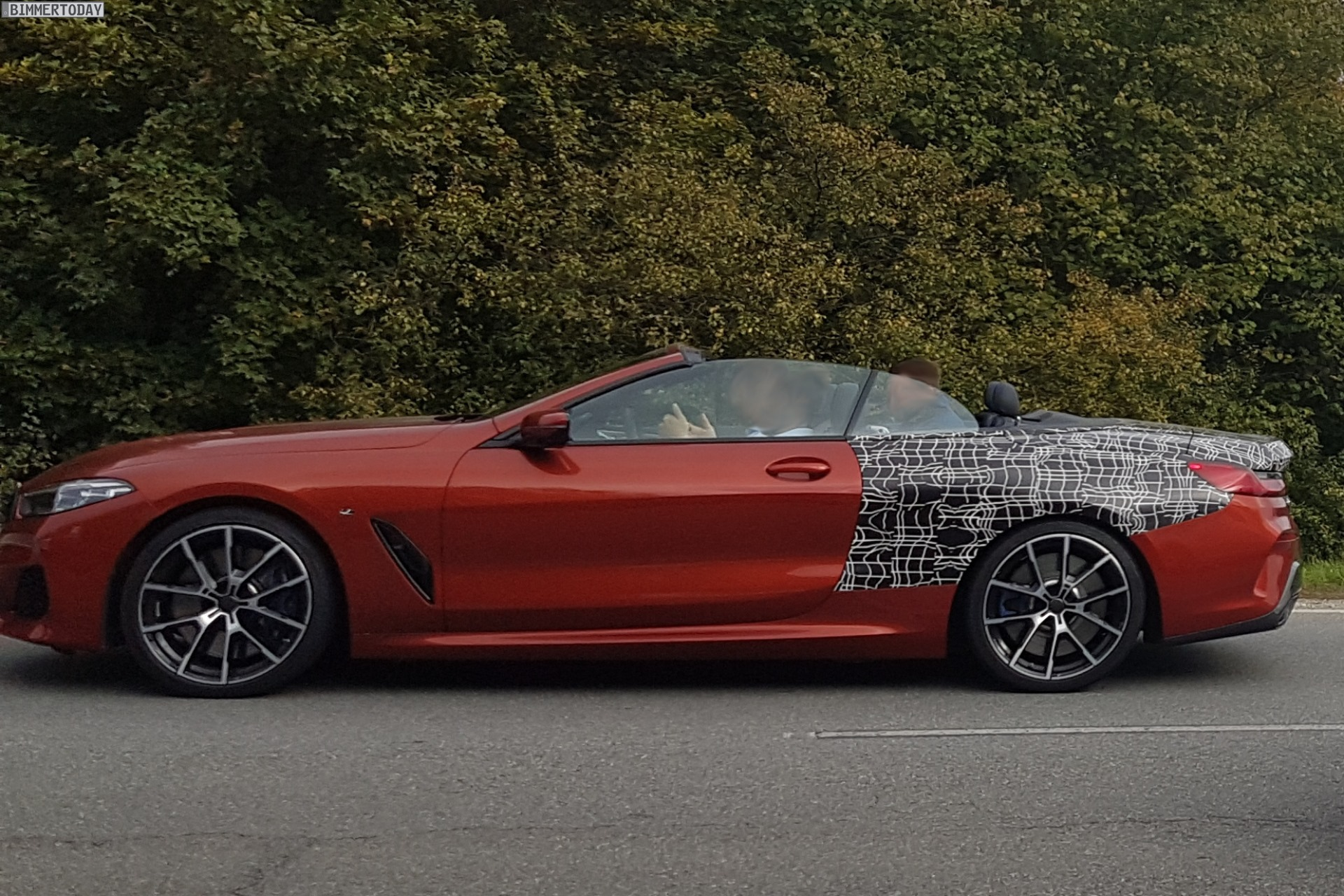 Bmw 8 Series Convertible Nearly Unveiled In Sunset Orange