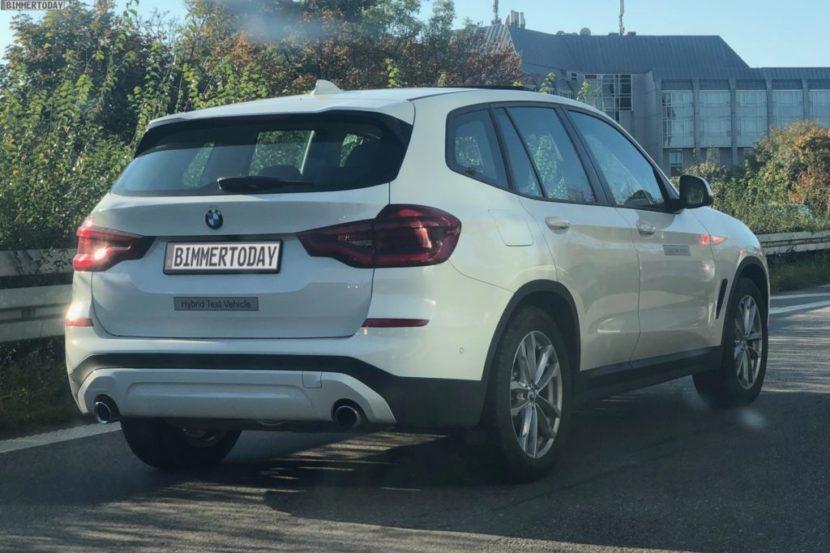 2019 BMW X3 xDrive30e G01 Plug in Hybrid Erlkoenig 02 1024x684 830x553