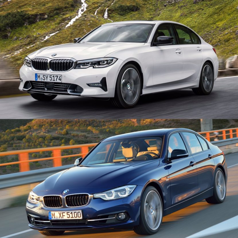 photo comparison g20 bmw 3 series vs f30 bmw 3 series i. Black Bedroom Furniture Sets. Home Design Ideas