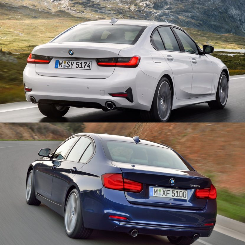 photo comparison g20 bmw 3 series vs f30 bmw 3 series. Black Bedroom Furniture Sets. Home Design Ideas