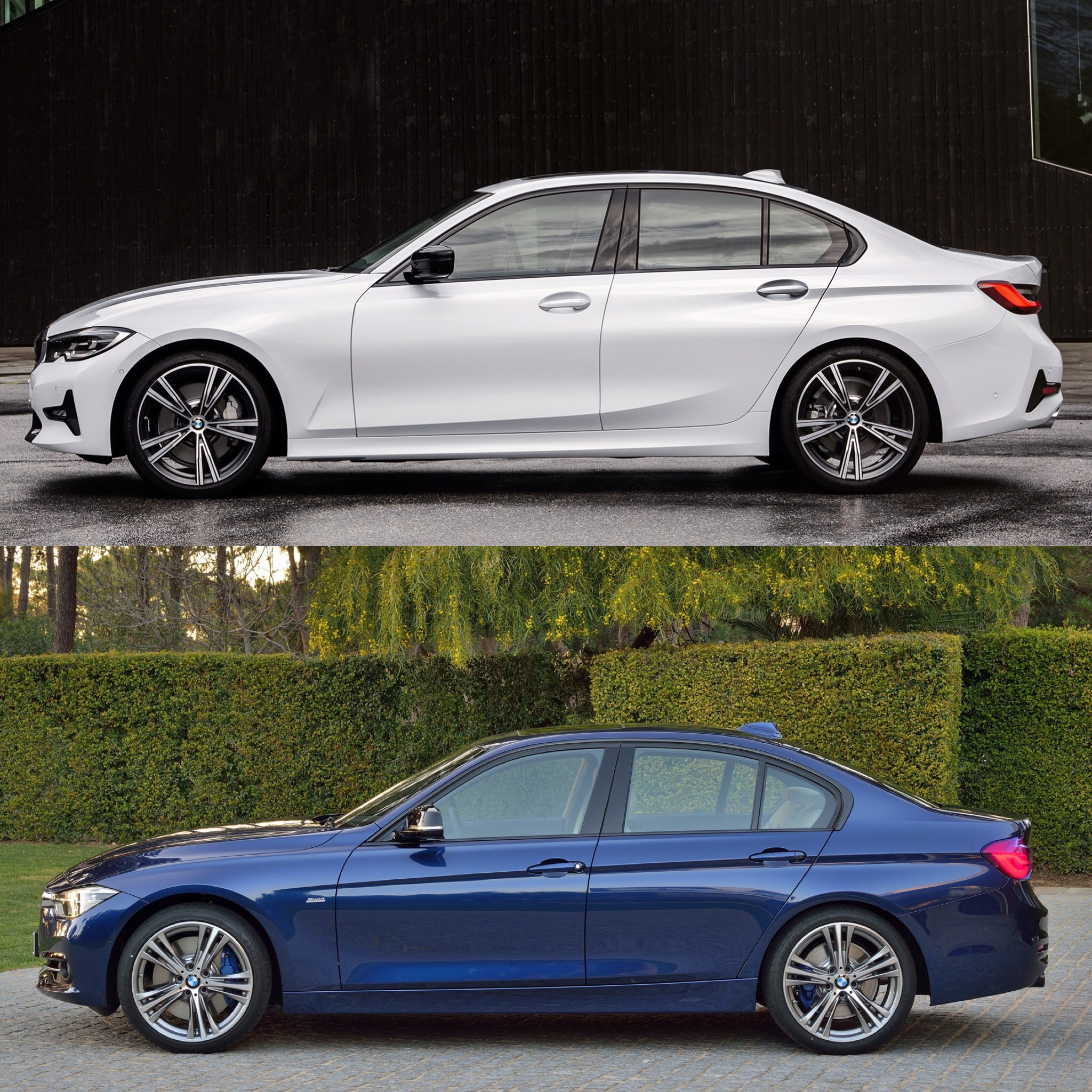 Compare Bmw Models: Photo Comparison: G20 BMW 3 Series Vs F30 BMW 3 Series