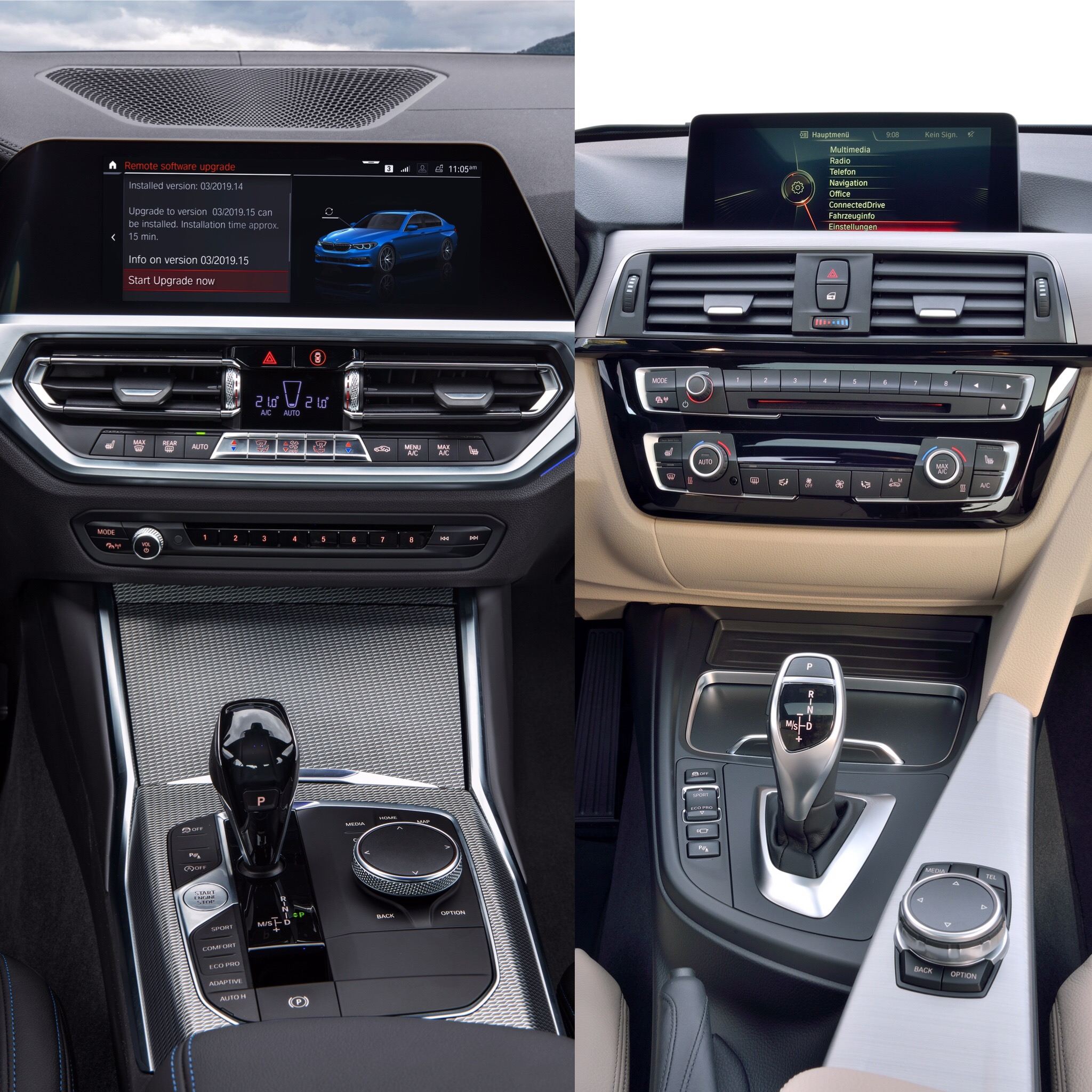 Photo Comparison G20 Bmw 3 Series Vs Facelifted Audi A4: Photo Comparison: G20 BMW 3 Series Vs F30 BMW 3 Series