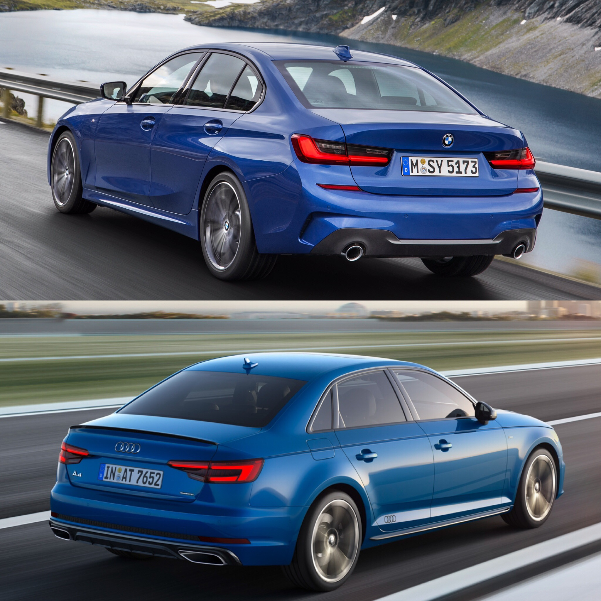 Bmw 328i: Photo Comparison: G20 BMW 3 Series Vs Facelifted Audi A4