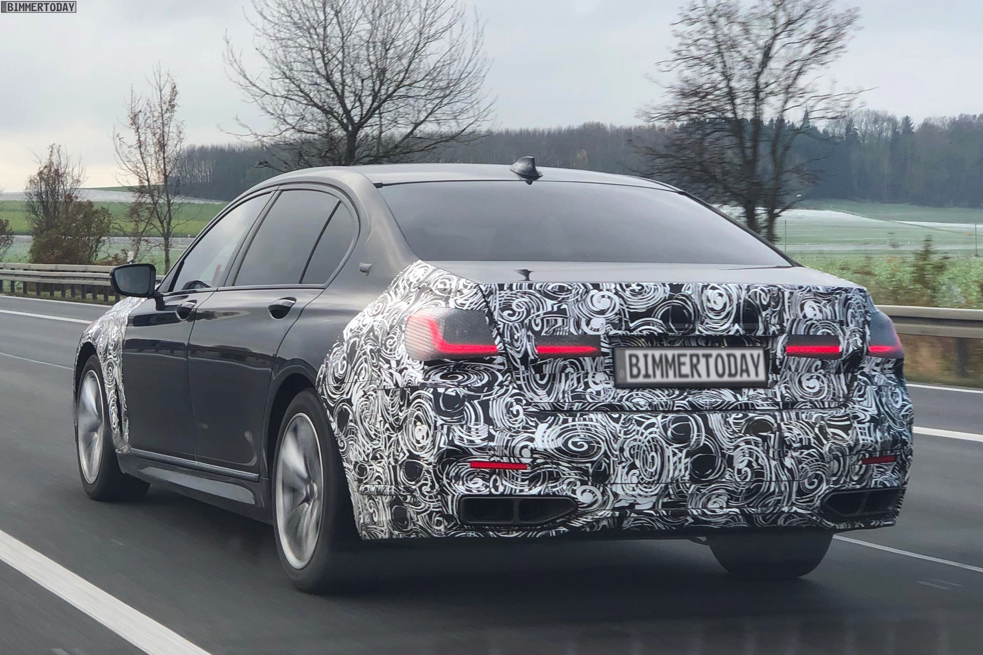 2019 BMW 7er Facelift G12 LCI G11 Erlkoenig Spyshots 02