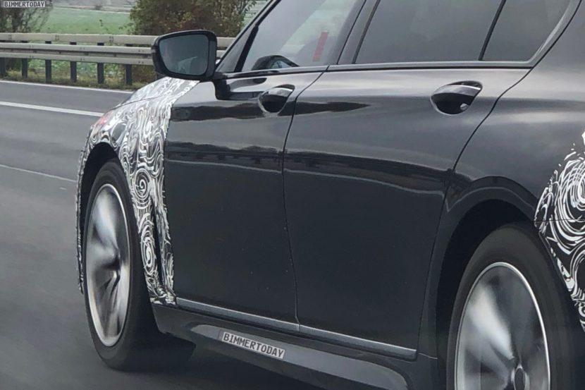 2019 BMW 7er Facelift G12 LCI G11 Erlkoenig Spyshots 05 830x553
