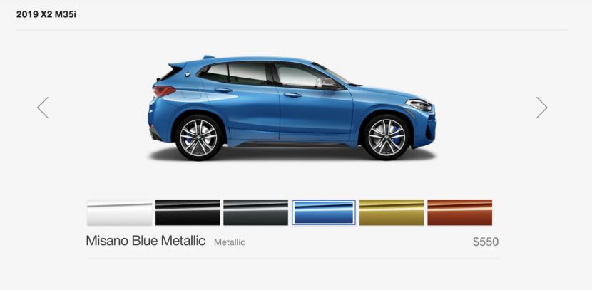 2019 BMW X2 M35i Misano Blue 830x407