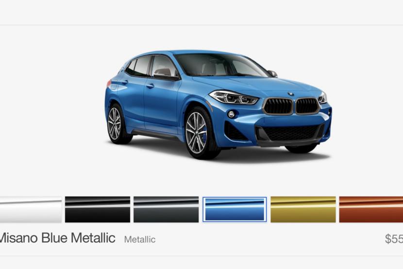 2019 BMW X2 M35i Misano Blue front 830x553