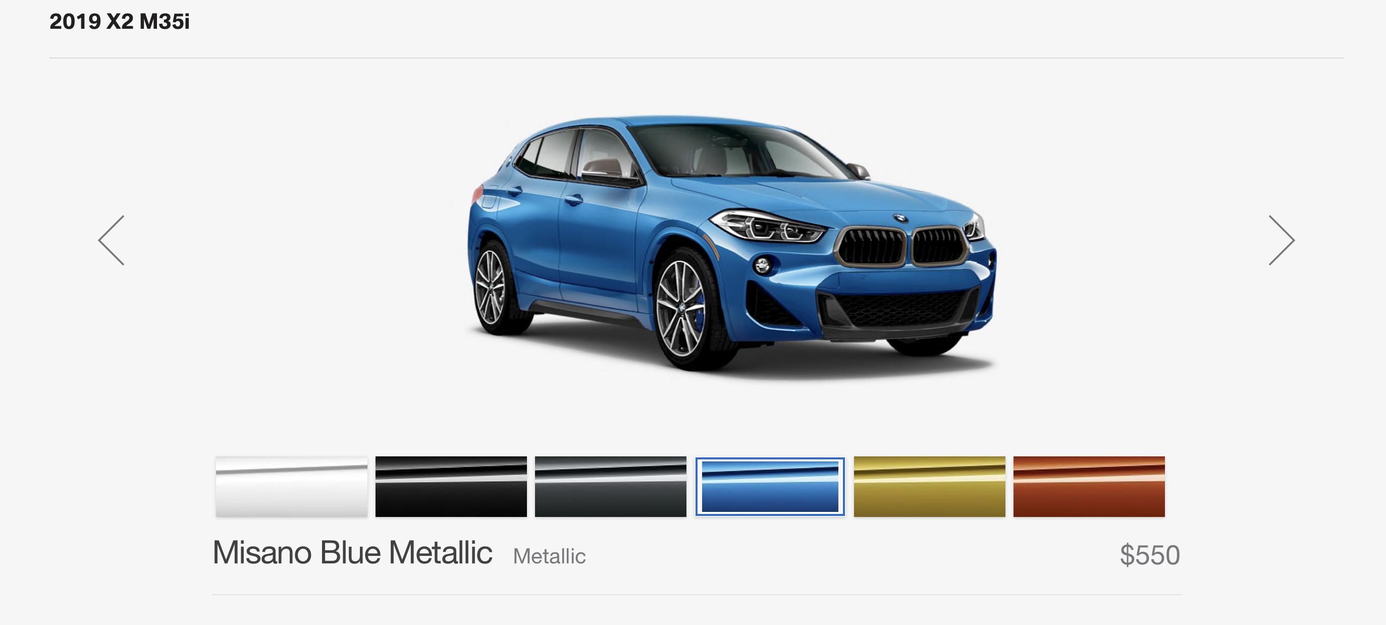 2019 BMW X2 M35i Misano Blue front